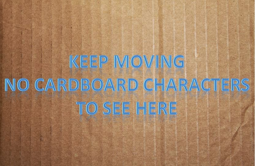 graphic Cardboard characters
