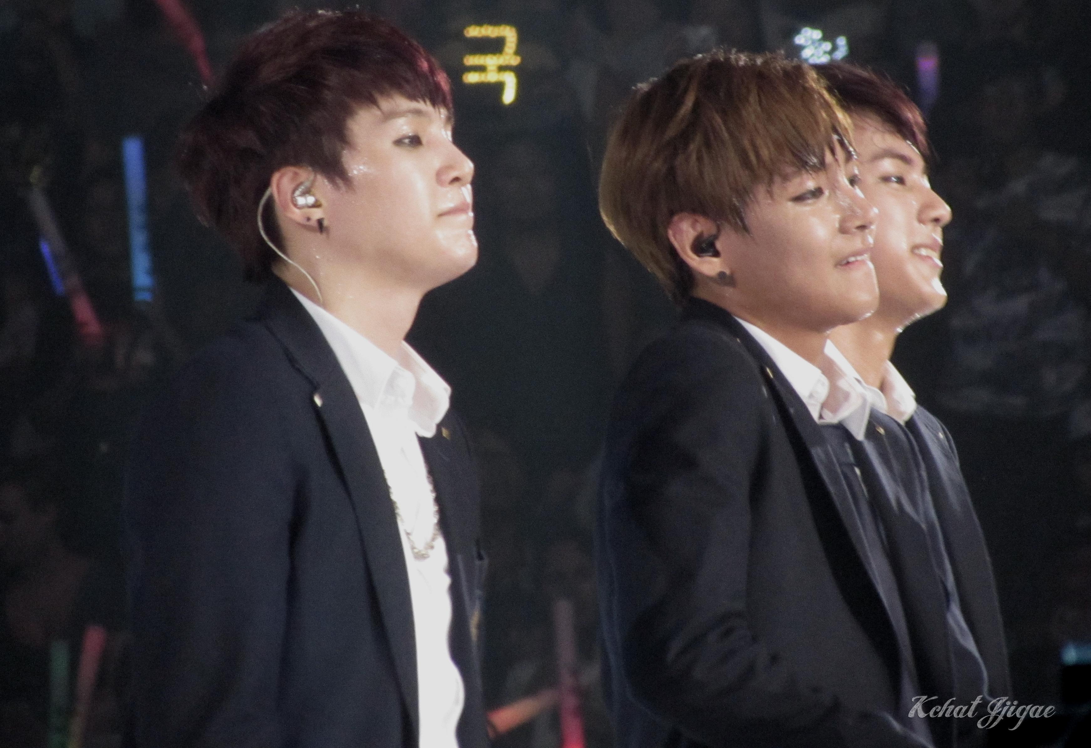 BTS KCON 2014 SUGA JIN TAEHYUNG